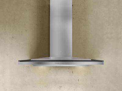 "36"" Zephyr Designer Series Layers Wall Mount Chimney Range Hood With Black Glass - ALAM90BBX"