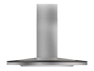 "36"" Zephyr Designer Series Layers Wall Mount Chimney Range Hood With Black Glass - ALAM90BBX"