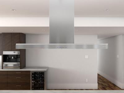 "42"" Zephyr Lucé Island Chimney Hood with BriteStrip LED, ACT Technology  - ZLCE42BS"