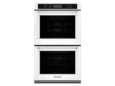 "27"" KitchenAid Double Wall Oven with Even-Heat True Convection - KODE507EWH"