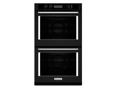 "27"" KitchenAid Double Wall Oven with Even-Heat True Convection - KODE507EBL"