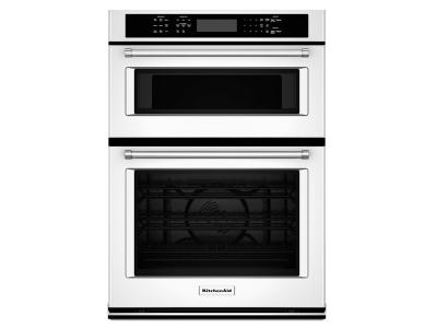 "27"" KitchenAid Combination Wall Oven with Even-Heat  True Convection (lower oven) - KOCE507EWH"