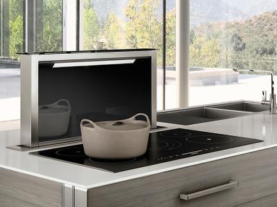 """36 """" Faber Scirocco Lux Collection Downdraft Hood - SCLX3615BKNB-B"""