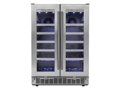 "24"" Silhouette  Napa  French Door Wine Cooler - DWC047D1BSSPR"