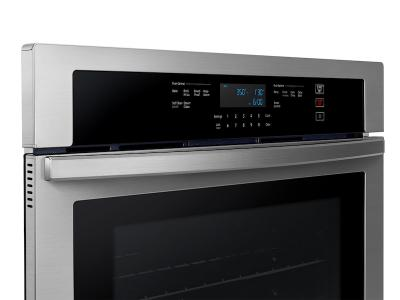 """30"""" Samsung Single Wall Oven with Wi-Fi in Stainless Steel - NV51T5511SS"""
