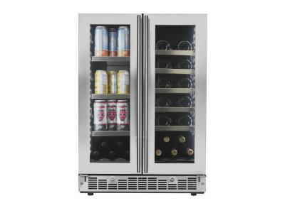 "24"" Silhouette French Door Beverage Center - SPRBC047D1SS"