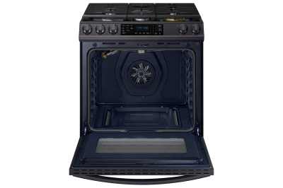 "30"" Samsung 6.0 Cu. Ft. Gas Range With True Convection And Air Fry in Black Stainless Steel - NX60T8511SG"