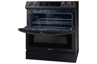 "30"" Samsung 6.3 Cu.Ft. Electric Range With Flex Duo And Air Fry In Black Stainless Steel - NE63T8751SG"