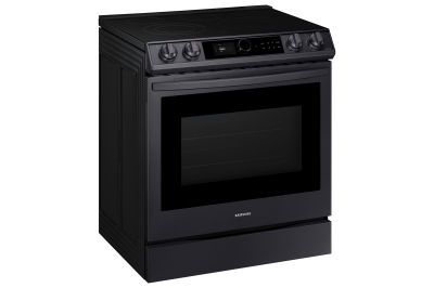 "30"" Samsung  6.3 Cu. Ft. Electric Range With True Convection And Air Fry in Black Stainless Steel - NE63T8711SG"