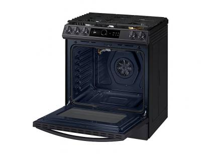 "30"" Samsung 6.0 cu. ft. Gas Range with True Convection and Air Fry in Black Stainless Steel - NX60T8711SG"