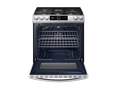 "30"" Samsung 6.0 cu. ft. Gas Range with True Convection and Air Fry in Stainless Steel - NX60T8711SS"