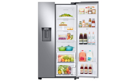 "36"" Samsung 21.5 Cu. Ft. side by Side Door Family Hub Refrigerator - RS22T5561SR"
