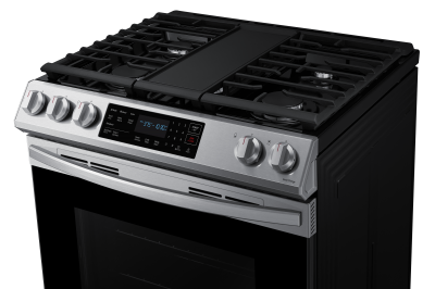 """30"""" Samsung 6.0 Cu. Ft. Gas Range With Fan Convection In Stainless Steel - NX60T8311SS"""