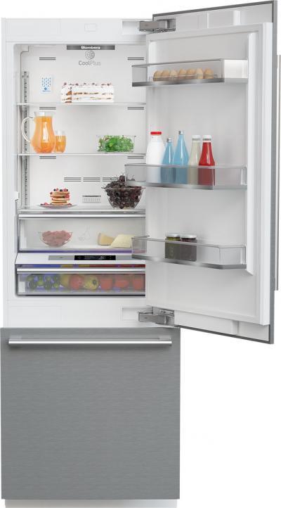 """30"""" Blomberg Fully Integrated Built-In Bottom-Freezer Refrigerator - BRFB1920SS"""