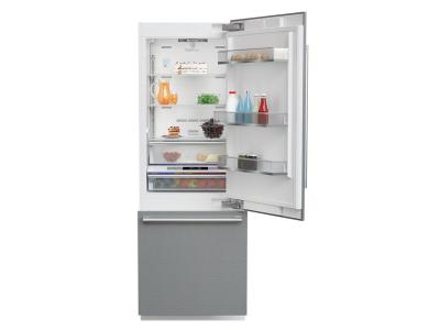 "30"" Blomberg Fully Integrated Built-In Bottom-Freezer Refrigerator - BRFB1920SS"
