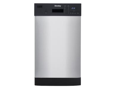 "18"" Danby Stainless Built-In Dishwasher - DDW1804EBSS"