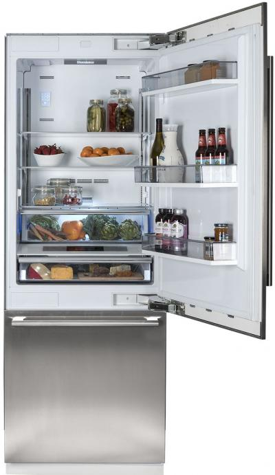 "30"" Blomberg Fully Integrated Built-In Bottom-Freezer Refrigerator - BRFB1900FBI"