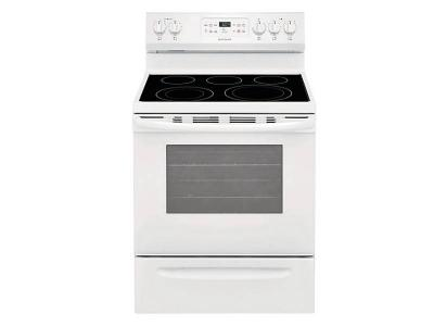 "30"" Frigidaire 5.4 Cu. ft. Self Cleaning Smooth Top Electric Range - CFEF3056VW"