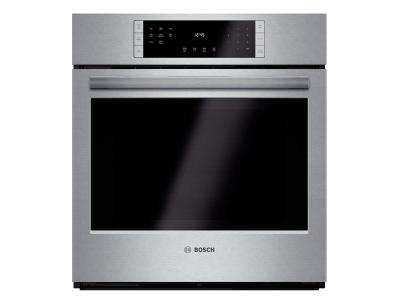 "27"" Bosch Single Wall Oven 800 Series - Stainless Steel HBN8451UC"