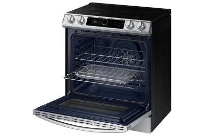"30"" Samsung 6.3 Cu.Ft. Electric Range With True Convection And Air Fry In Stainless Steel - NE63T8711SS"