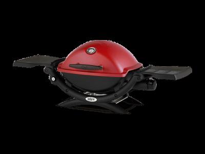 "41"" Weber Q Series 1 Burner Liquid Propane Gas Grill In Red - Q1200 (R)"