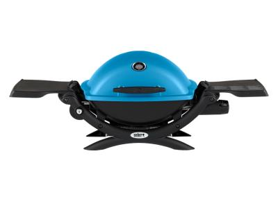 "41"" Weber Q Series 1 Burner Liquid Propane Gas Grill In Blue - Q1200 (Bl)"