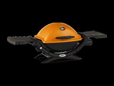 "41"" Weber Q Series 1 Burner Liquid Propane Gas Grill In Orange - Q1200 (O)"
