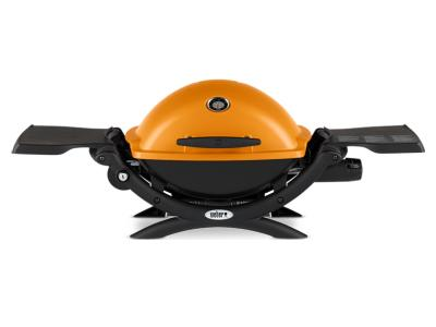 "41"" Weber Q Series 1 Burner Liquid Propane Gas Grill In Orange - Q1200 (O)"