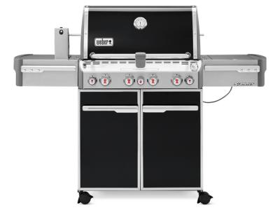 "66"" Weber Summit Series 4 Burner Liquid Propane Gas Grill With Side Burner In Black - Summit E-470 LP"