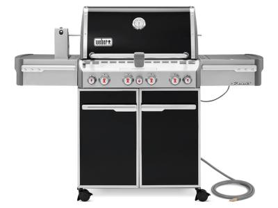 "66"" Weber Summit Series 4 Burner Natural Gas Grill With Side Burner In Black - Summit E-470 NG"
