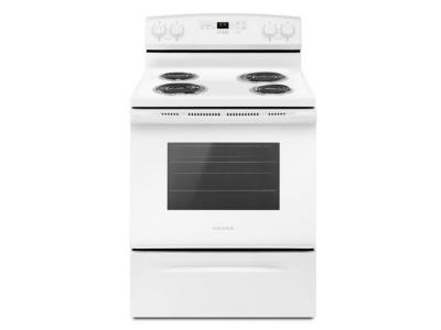 "30"" Amana Electric Range with Self-Clean Option - YACR4503SFW"