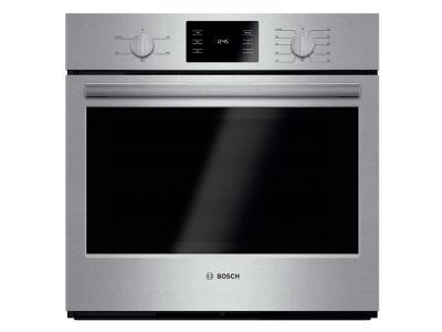 "30"" Bosch Single Wall Oven 500 Series - Stainless Steel HBL5351UC"