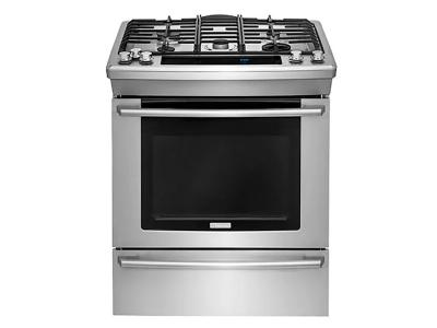 30'' Electrolux Dual-Fuel Built-In Range with Wave-Touch Controls - EW30DS8CRS