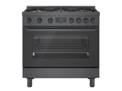 "36"" Bosch 800 Series Gas Freestanding Range In Black Stainless Steel - HGS8645UC"