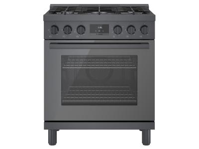 "30"" Bosch 800 Series Gas Freestanding Range With 5 Burners In Black Stainless Steel - HGS8045UC"