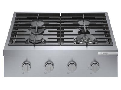 "30"" Bosch 800 Series Professional Rangetop With 4 Burner In Stainless Steel - RGM8058UC"