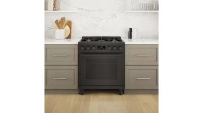 "30"" Bosch 800 Series Dual Fuel Freestanding Range In Black Stainless Steel - HDS8045C"
