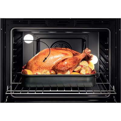 """30"""" Bosch 800 Series Double Wall Oven In Black - HBL8661UC"""
