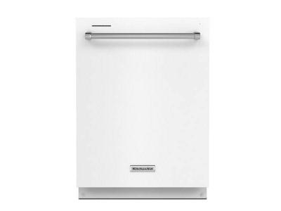 "24"" KitchenAid Built-In Undercounter Dishwasher in White - KDTE204KWH"