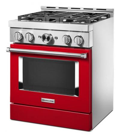 "30"" KitchenAid Smart Commercial-Style Gas Range With 4 Burners - KFGC500JPA"