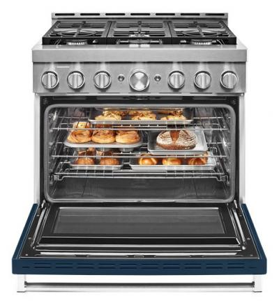 36'' KitchenAid  Smart Commercial-Style Gas Range With 6 Burners - KFGC506JIB
