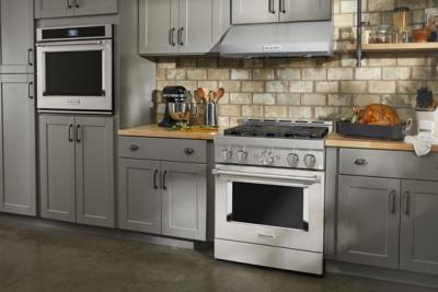 30'' KitchenAid Smart Commercial-Style Gas Range With 4 Burners - KFGC500JMH