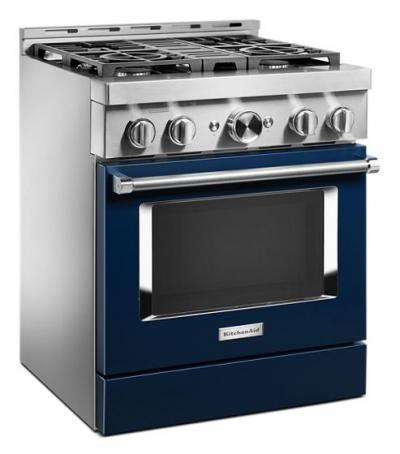 30'' KitchenAid Smart Commercial-Style Gas Range With 4 Burners - KFGC500JIB