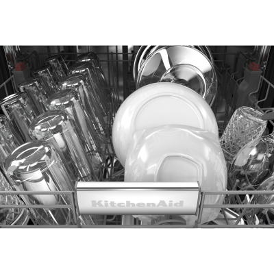 "24"" KitchenAid 44 dBA Dishwasher in PrintShield Finish With FreeFlex Third Rack - KDTM404KBS"