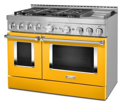 "48"" KitchenAid Gas Self Clean Convection Range - KFGC558JYP"