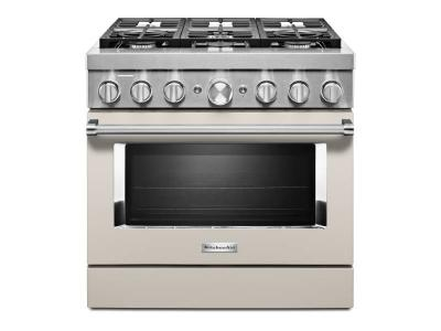 "36"" KitchenAid Smart Commercial-Style Gas Range With 6 Burners - KFGC506JMH"