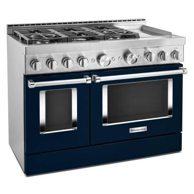 "48"" KitchenAid Smart Commercial-Style Gas Range With Griddle - KFGC558JIB"