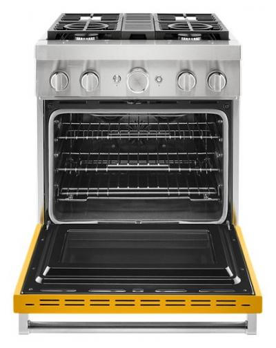 30'' KitchenAid  Smart Commercial-Style Dual Fuel Range with 4 Burners - KFDC500JYP