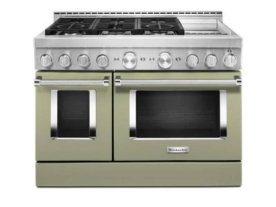 48'' KitchenAid Smart Commercial-Style Gas Range with Griddle - KFGC558JAV