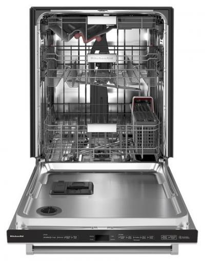 "24"" KitchenAid 44 dBA Dishwasher in PrintShield Finish with FreeFlex Third Rack - KDTM604KPS"